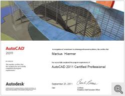 Zertifikat ACAD Professional