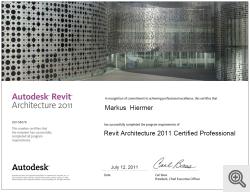 Zertifikat Revit Professional